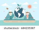 green eco city. | Shutterstock .eps vector #684235387