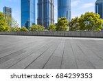 empty pavement and modern... | Shutterstock . vector #684239353