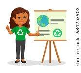 african woman environmental... | Shutterstock . vector #684253903
