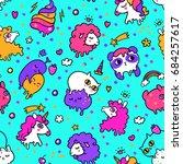 vector illustration of pop cute ... | Shutterstock .eps vector #684257617
