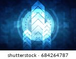 2d illustration technology... | Shutterstock . vector #684264787