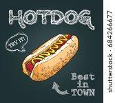 hotdog vector illustration ... | Shutterstock .eps vector #684266677