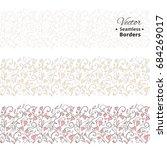 seamless love borders  floral... | Shutterstock .eps vector #684269017