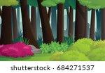 dense forest scenery.deep... | Shutterstock .eps vector #684271537