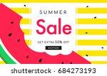 summer sale banner vector... | Shutterstock .eps vector #684273193