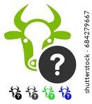 cow unknown status flat vector... | Shutterstock .eps vector #684279667