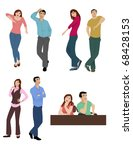 body language vector | Shutterstock .eps vector #68428153