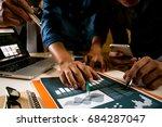 team business meeting... | Shutterstock . vector #684287047