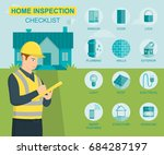 home inspection infographics... | Shutterstock .eps vector #684287197