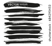 abstract big black long brush... | Shutterstock .eps vector #684295453