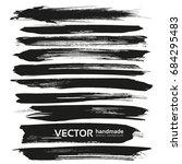 black vector brush strokes... | Shutterstock .eps vector #684295483