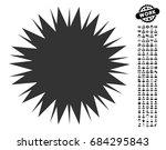 microbe spore icon with black...   Shutterstock .eps vector #684295843
