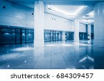 empty building hall with... | Shutterstock . vector #684309457
