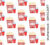 popcorn pattern on the white... | Shutterstock . vector #684312697