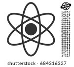 atom icon with black bonus job... | Shutterstock .eps vector #684316327