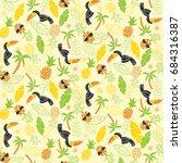 seamless tropical pattern.... | Shutterstock .eps vector #684316387