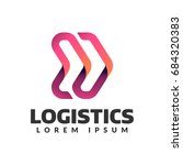 logistic company logo. arrow... | Shutterstock .eps vector #684320383
