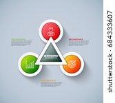 business 3d infographics vector ... | Shutterstock .eps vector #684333607