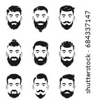 monochrome avatar systems of... | Shutterstock .eps vector #684337147