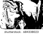 black and white liquid texture. ... | Shutterstock .eps vector #684338023