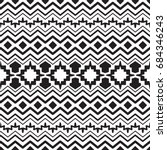 vector seamless ethnic black... | Shutterstock .eps vector #684346243