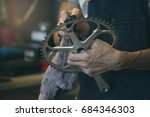 maintenance and repair bike... | Shutterstock . vector #684346303
