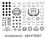 luxury logo set. crest logo... | Shutterstock .eps vector #684370087