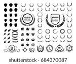luxury and crest logo element... | Shutterstock .eps vector #684370087