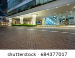 square front of modern office... | Shutterstock . vector #684377017