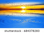 sunset of colors on the water... | Shutterstock . vector #684378283