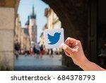 krakow  poland   july  2017  ... | Shutterstock . vector #684378793