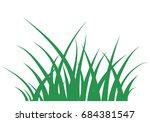 fragment of a green grass...   Shutterstock .eps vector #684381547