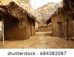 rural village poor house | Shutterstock . vector #684382087