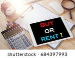 buy or rent text message on... | Shutterstock . vector #684397993