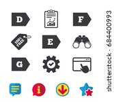 energy efficiency class icons....