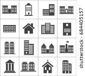 buildings and houses icons.... | Shutterstock .eps vector #684405157