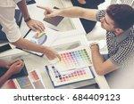 business teamwork discuss with... | Shutterstock . vector #684409123
