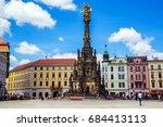 holy trinity column in olomouc  ... | Shutterstock . vector #684413113