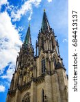 cathedral of saint wenceslas in ... | Shutterstock . vector #684413137