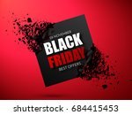 black friday sale abstract... | Shutterstock .eps vector #684415453
