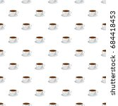 cup of coffee pattern   Shutterstock .eps vector #684418453