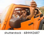 group of happy young friends... | Shutterstock . vector #684442687
