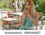pretty young slim girl at a...   Shutterstock . vector #684446467