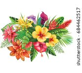 arrangement from tropical... | Shutterstock .eps vector #684462517