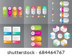 collection of colorful... | Shutterstock .eps vector #684464767