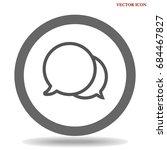 speech bubbles icon vector flat ...