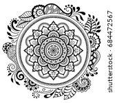 circular pattern in form of... | Shutterstock .eps vector #684472567
