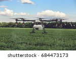 professional large drone spray... | Shutterstock . vector #684473173