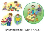 some hand drawn raster... | Shutterstock . vector #68447716