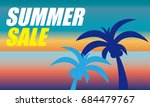 summer sale poster for web and... | Shutterstock .eps vector #684479767